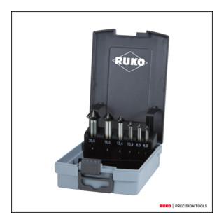 Ruko Kegel- und Entgratsenker-Satz ULTIMATECUT DIN 335 Form C 90 Grad HSS Co 5 RUnaTEC in ABS-Kunststoffkassette 6,3 - 20,5 mm