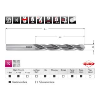 Ruko Spiralbohrer DIN 338 Typ N HSS-G TC