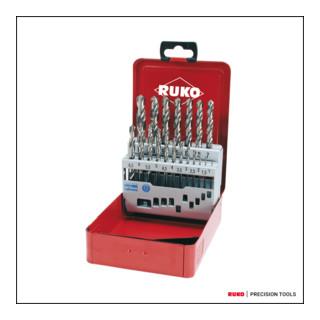 Ruko Spiralbohrersatz DIN 338 Typ N HSS G in Industriekassette