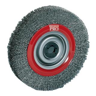 Rundbuerste D.200mm Drahtstaerke 0,3mm Stahldraht