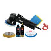 Rupes Exzenter-Poliermaschine LHR 12E Kit BAS mit 1 Schwamm, 1 Wolle Pad, 2 Polituren, Starterset Schleifen, 1 Soft Interface Pad, 2 Mf Tuecher, Kabelklemme