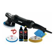 Rupes Exzenter-Poliermaschine LHR 15 ES Kit BAS mit 1 Schwamm, 1 Wolle Pad, 2 Polituren, 2 Mf Tuecher, Kabelklemme