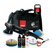 Rupes Exzenter-Poliermaschine LHR 15 ES Kit LUX mit 2 Schwaemmen, 2 Wolle Pad, 3 Polituren- 3 Mf Tuecher-1 Schuerze- Schwammentferner, Kabelklemme, Tasche