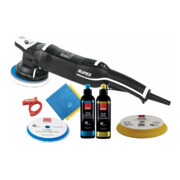 Rupes Exzenter-Poliermaschine LHR 15 Mark III Kit BAS mit 1 Schwamm, 1 Wolle Pad, 2 Polituren, 2 Mf Tuecher, Kabelklemme