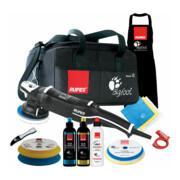 Rupes Exzenter-Poliermaschine LHR 15 Mark III Kit LUX mit 2 Schwaemmen, 2 Wolle Pad, 3 Polituren- 3 Mf Tuecher-1 Schuerze- Schwammentferner, Kabelklemme, Tasche