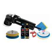 Rupes Exzenter-Poliermaschine LHR 75E Kit BAS mit 2 Schwaemme, 2 Wolle Pad, 2 Polituren, 2 Mf Tuecher, Kabelklemme