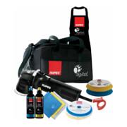 Rupes Exzenter-Poliermaschine LHR 75E Kit LUX mit 2 Schwaemmen, 2 Wolle Pad, 2 Polituren- 3 Mf Tuecher-1 Schuerze, Kabelklemme, Tasche