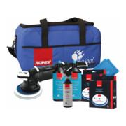 Rupes Marine Premium Exzenter-Poliermaschine LHR 21III, 2 Polierpasten XC1, 4 Wolle-Polierscheiben, 2 MF Tuecher, BF Tasche