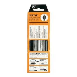 Sägeblatt-Sortiment 12 tlg. PUK universal/Holz grob/ Metall fein/extra fein