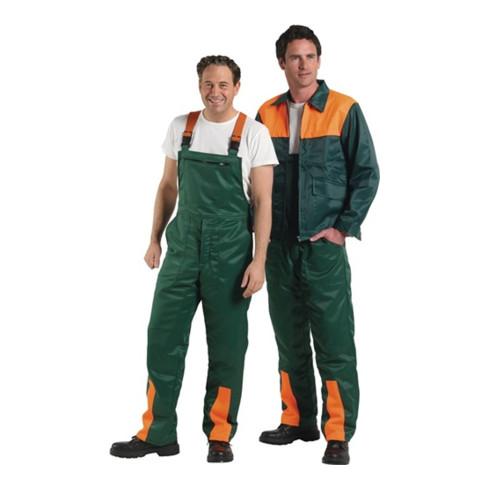 Salopette de sécurité p. forestiers taille 46/48 vert/orange 50 % nylon / 50 % c