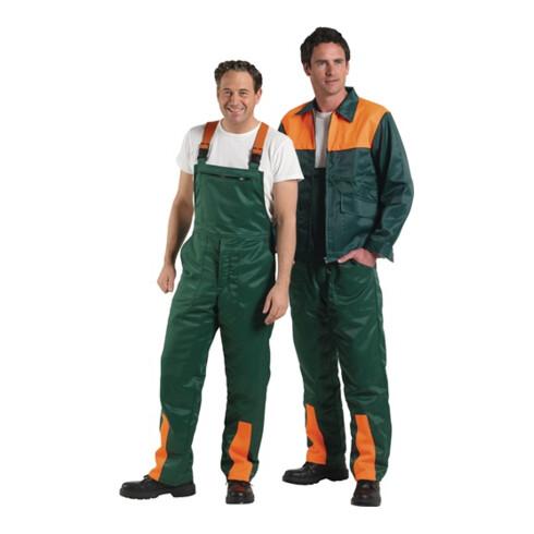 Salopette de sécurité p. forestiers taille 50/52 vert/orange 50 % nylon / 50 % c
