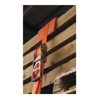 Sangle d'amarrage 5000 avec crochets profilés, cliquet engrenage L. 8,00 m LC U
