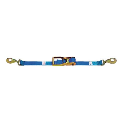 Sangle d'amarrage DIN EN 12195-2 L. 10 m l. 50 mm avec rochet + mousqueton LC U
