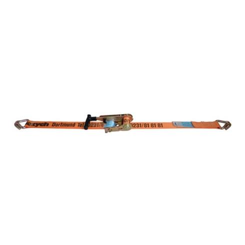 Sangle d'amarrage DoRapid L. 6 m l. 50 mm sauterelle + crochet pointu LC U 5000