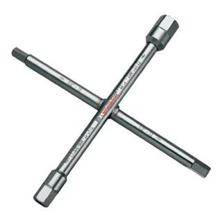 Sanitär-Kreuzschlüssel 220 x 220mm Chrom-Vanadium-Spezialstahl