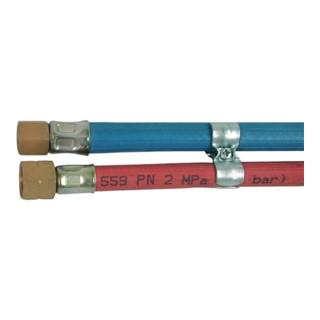 Sauerstoff-/Acetylenschlauch L.15m ID 6,3/8mm Wands.5/3,5mm rot/blau GCE RHÖNA