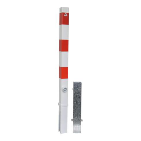 Schake Absperrpfosten Typ 470FB, 70x70mm, herausnehmbar + Dreikantverschluß, inkl. Bodenhülse
