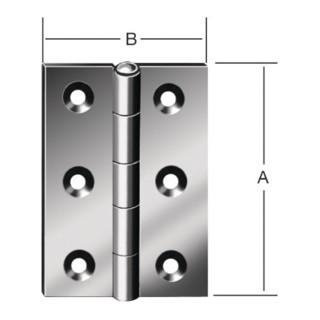 Scharnier DIN 7954 B 60x46mm halbbreit