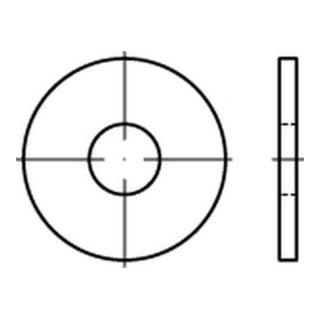 Scheibe DIN 9021/ISO 7093 10,5x30x2,5mm Stahl galv. Verzinkt / gelb chromatisiert