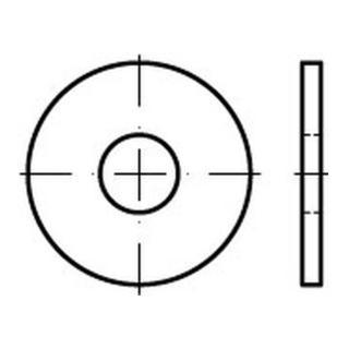 Scheibe DIN 9021/ISO 7093 15x44x3mm Edelstahl A2 blank