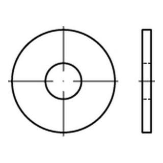 Scheibe DIN 9021/ISO 7093 3,2x9x0,8mm Stahl galv. Verzinkt / gelb chromatisiert