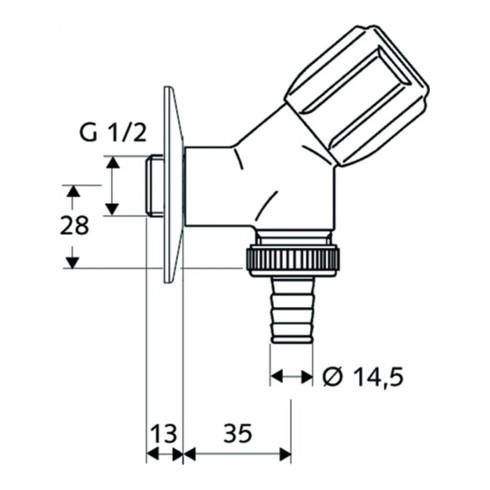 """Schell Geräteschrägsitzventil COMFORT chrom 1/2"""""""