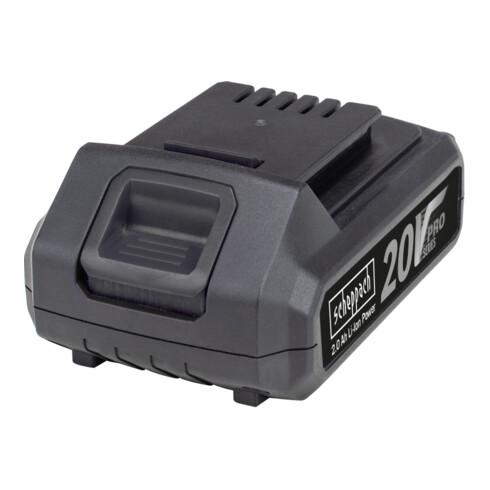 Scheppach Akku- Winkelschleifer CAG115-20ProS + 2 x 2.0Ah-Akku + Schnellladegerät