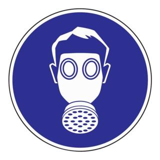 Schild Atemschutz benutzen D.200mm Kunststoff blau/weiß