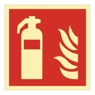 Schild Feuerlöscher 148x148mm Kunststoff rot/weiß ASR A1.3 DIN EN ISO 7010
