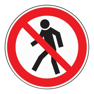 Schild Fußgänger verboten D200mm Kunststoff rot/schwarz