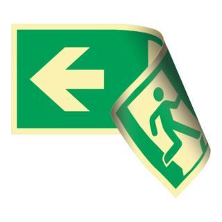 """Rettungsschild """"Rettungsweg links/rechts"""