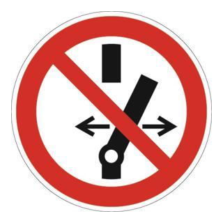 Schild Schalten verboten D200mm Ku. rot/schwarz ASR A1.3 DIN EN ISO 7010