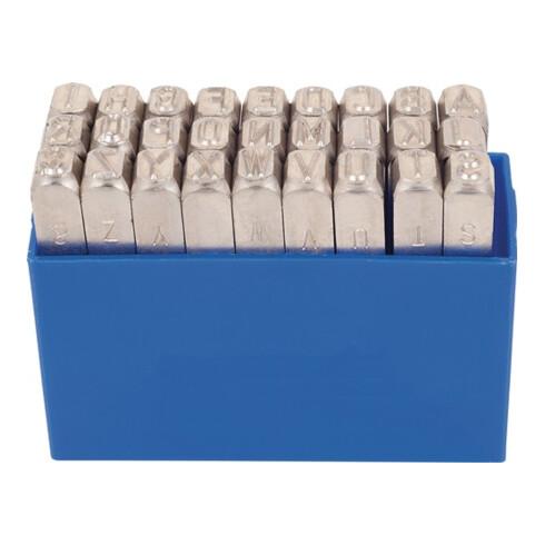Schlagbuchstabensatz 331 27-tlg.Großbuchstaben A-Z Schrift-H.4mm in Ku.-Box