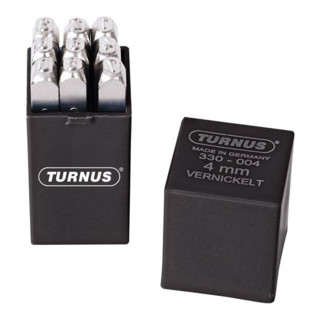 Schlagzahlensatz SH 2mm vernickelt Turnus