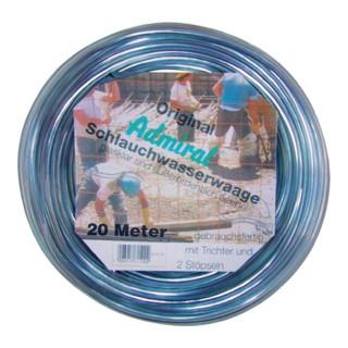 Klotz Schlauchwasserwaage, mit Stöpseln und Trichter