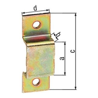 Schlaufe L.38mm B.13mm STA galv.gelb verz.Anz.Löcher 2 Loch-D.3,0mm GAH