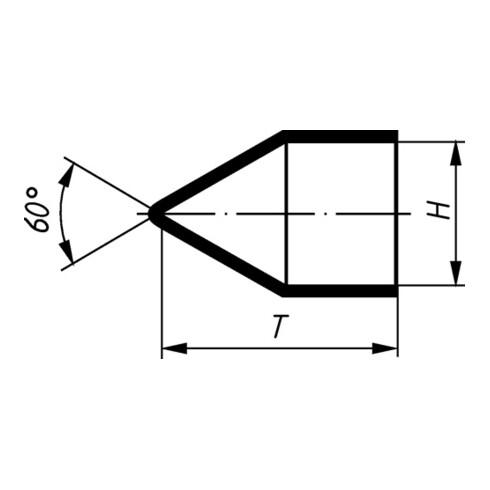 Schleifkappe D5xH11mm K.150 WK-Walzenkegel rot LUKAS