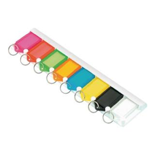 Schlüsselleiste z. Ankleben oder- schrauben natur Ku. Anz. Hak. 8