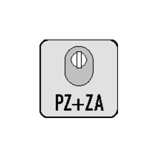 Schlüsselrosette 0815/0000 Alu.F1 Schildst.14,5mm PZ ov.EDI
