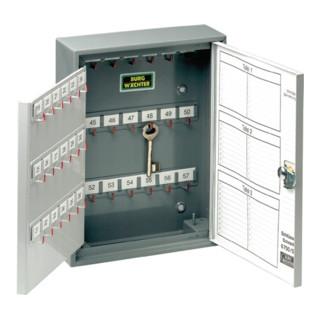 Schlüsselschrank 6700 H380xB285xT105mm 2-türig vorg.f.HZ Anz.Hak.108