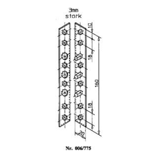 Schnegel Flach-Bändersicherung L.160mm B.20mm S.3mm STA verz. limbafarbig