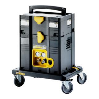 Schneider Aktions-Kompressor SYM-150-8-6 WXOF + Ausblaspistole AP-Vario-P + Schlauch DLS-SK-SF