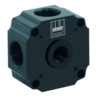 Schneider Rohrleitungsdose Basis G1'' RLD-B 4x1i-1/2i