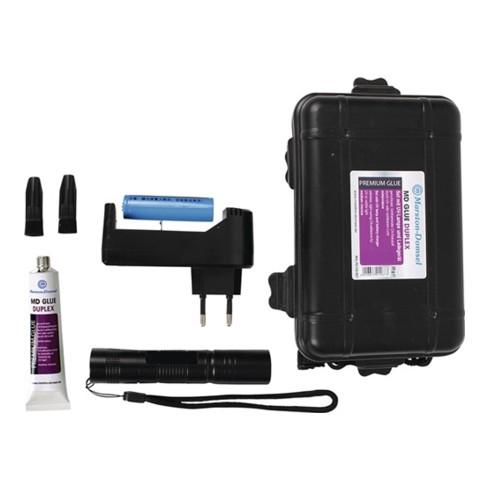 Schnellklebstoff Duplex 20g Klebstoff,UV Leuchte,Ladegerät Tube MARSTON