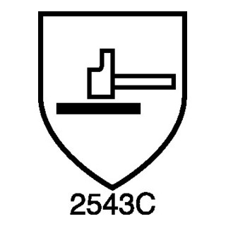 Schnitthandschuh Hades Gr.10 grau Rindvollleder EN 388,EN 407 Kat.II NITRAS