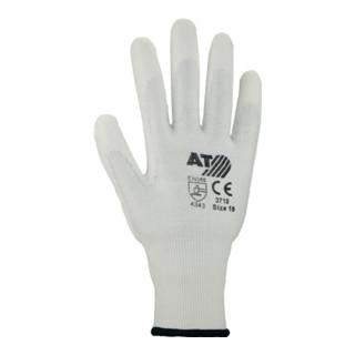 Schnittschutzhandschuhe weiß PU-teilbeschichtet mit Schnittschutz Level 3