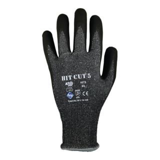 Schnittschutzhandschuhe HIT CUT 5 Gr.10 grau/schwarz EN 388 Kat.II 12 PA