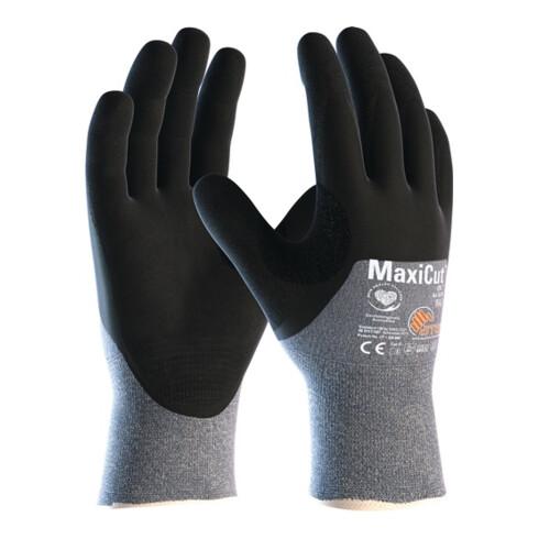 Schnittschutzhandschuhe MaxiCut®Oil™44-505 Gr.10 blau/schwarz EN420/EN388 12 PA