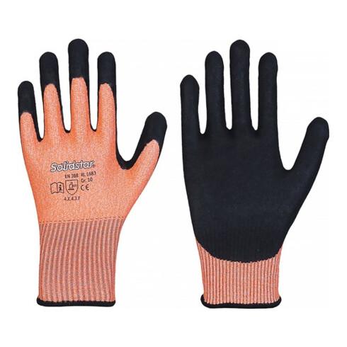 Schnittschutzhandschuhe Solidstar 1683 Gr.11 orange/schwarz EN 388 PSA II 12 PA