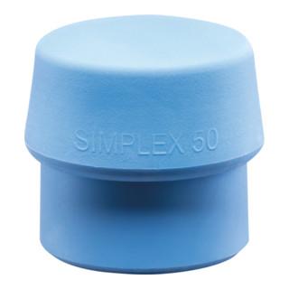 Schonhammerkopf SIMPLEX Kopf-Ø 40mm TPE-soft blau weich HALDER
